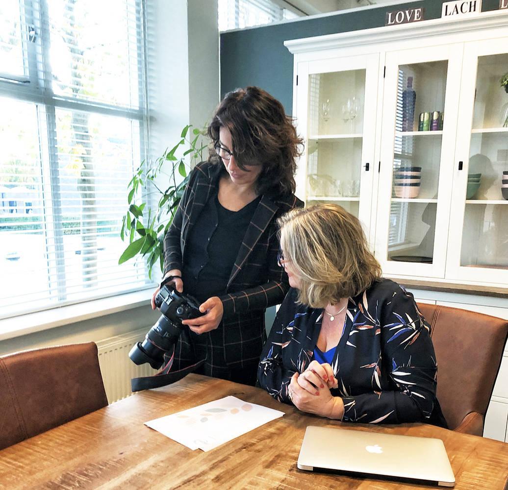 Fotograferen bij Birgit , Melior, loopbaanbegeleiding