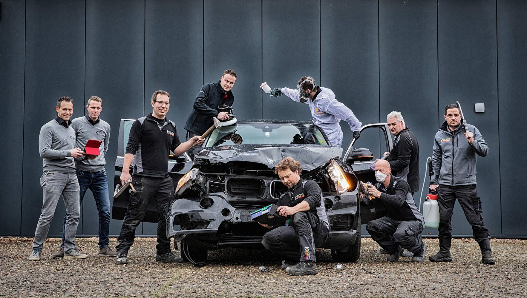 Fotografie voor de nieuwe website van Koops Autoschade