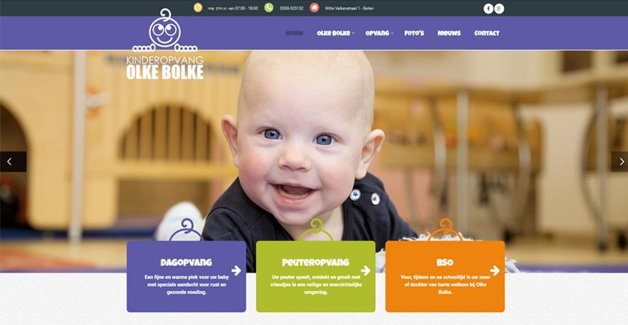 Website kinderdagverblijf Olke Bolke online