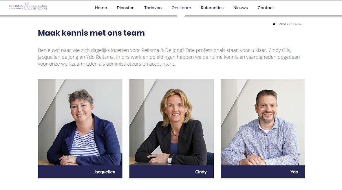 Fotografie voor website Reitsma en de Jong