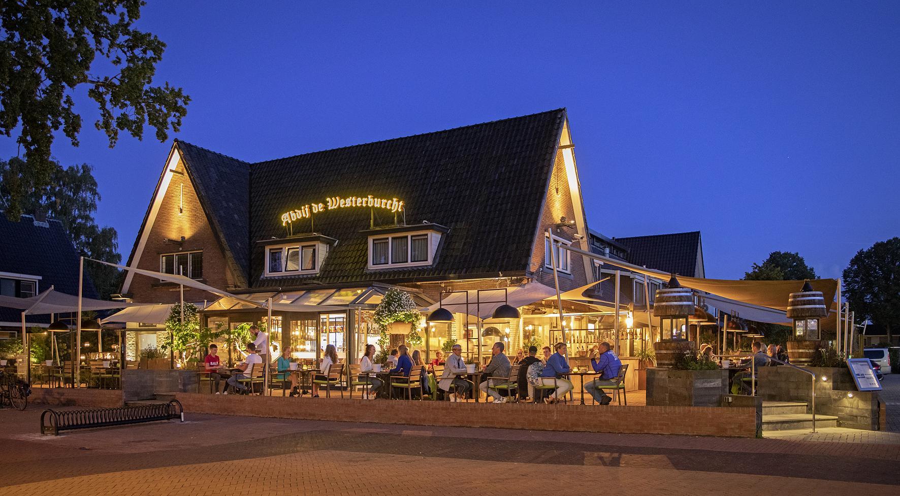 Verwarmt Terras Hotel restaurant Abdij de Westerburcht Westerbork