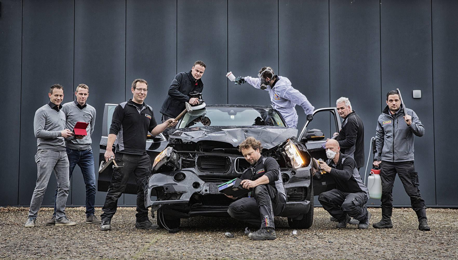 Het team van Koops autoschade
