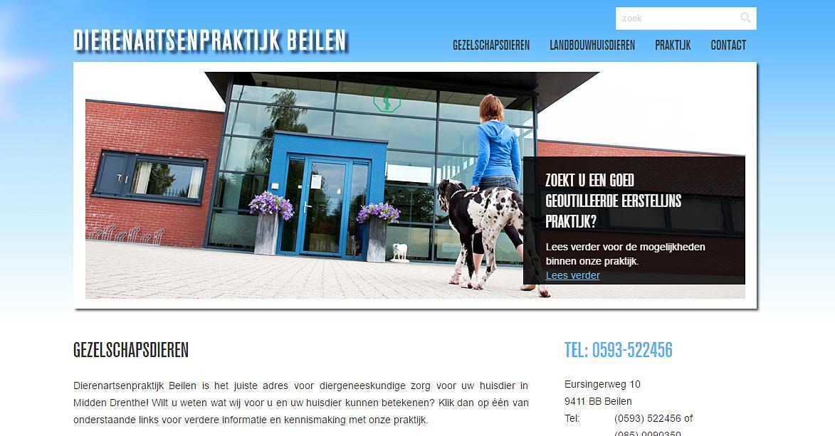 Dierenartsenpraktijk Beilen, website gebouwd en ontworpen door Bsconnect.nl
