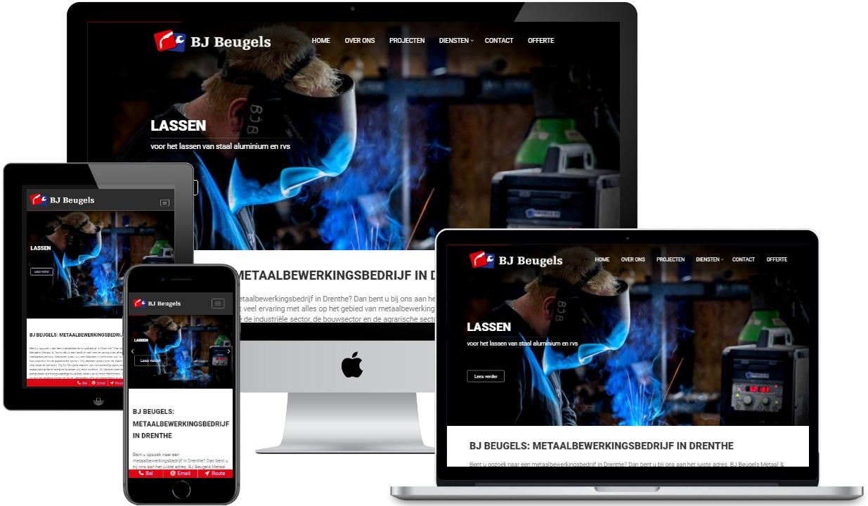Websites vollledig responsive ism BS Connect