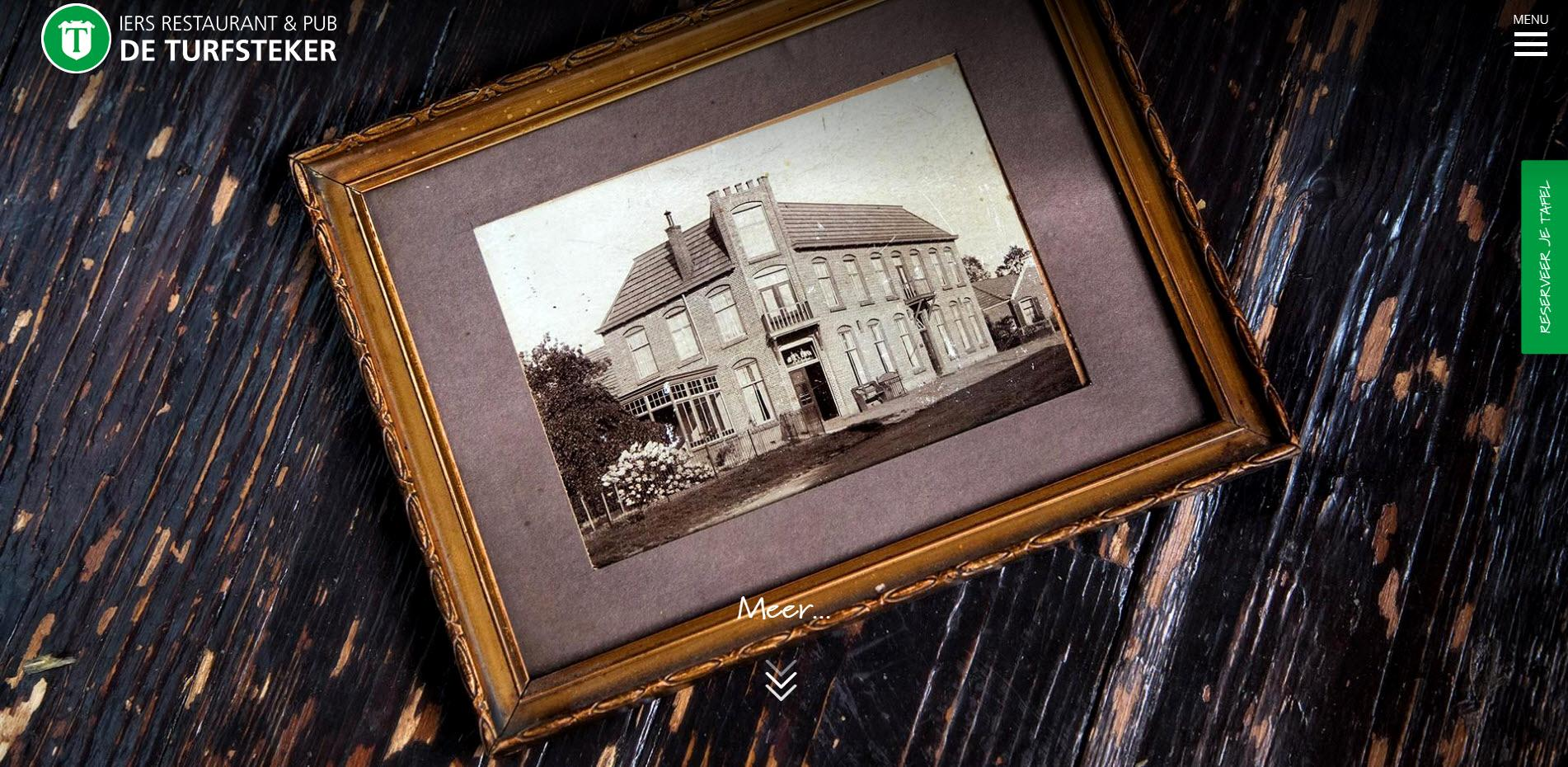 Iers restaurant De Turfsteker Westerbork website gemaakt door BS Connect